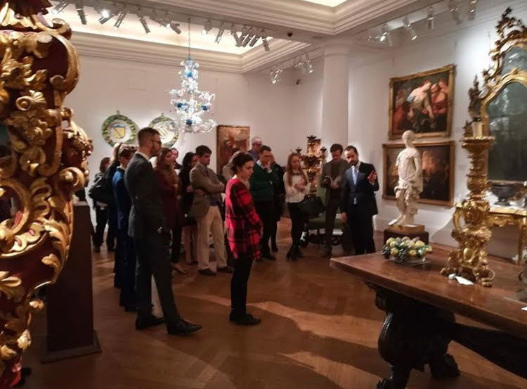 "FAI UK supporters at Sotheby's during the private tour of the sale ""A Venetian Legacy"""